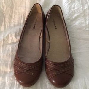 Brown White Mountain Ballet Flats 9M
